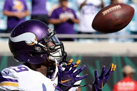 Xavier Rhodes leaves the pitch after a collision with a teammate, returns