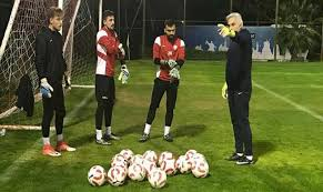 Goalkeepers are also at an intense pace