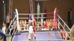 BC Helios Aachen boxer Ismet Ademi at the Youth European Championship